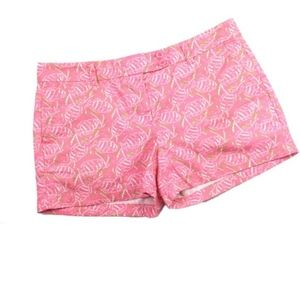 Vineyard Vines Pink Fish Print Shorts, Sz 0